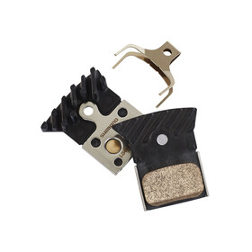 Shimano L04C Klocek hamulcowy Metal z żeberkami chłodzącymi czarny